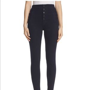 J Brand Natasha Button Sky High Skinny Jeans